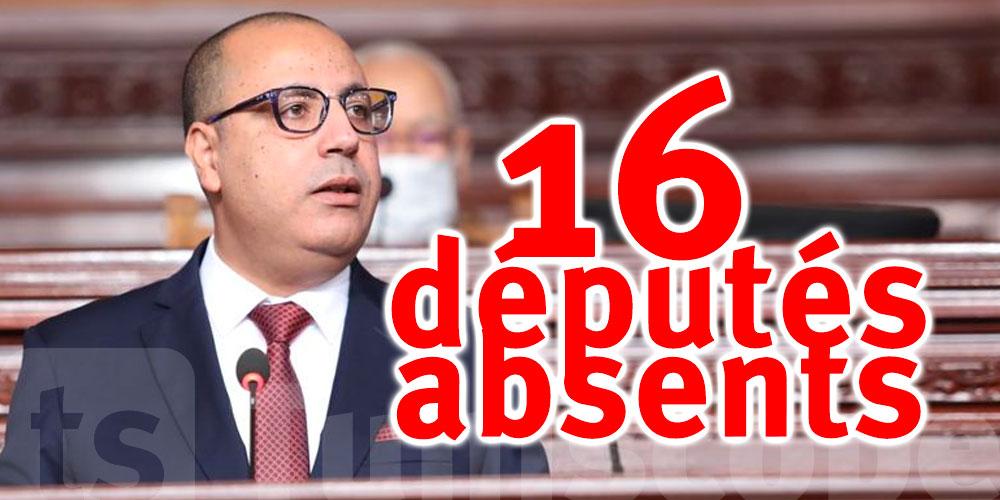 16 députés étaient absents lors du vote pour le gouvernement Mechichi
