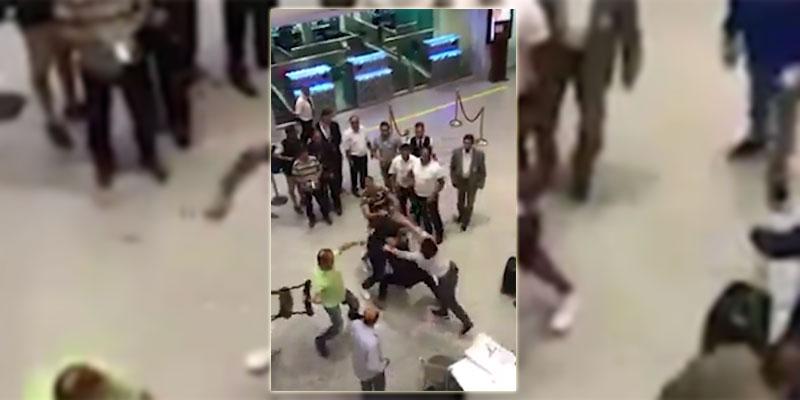 عراك و تراشق بالكراسي في مطار تونس قرطاج، مسؤول بالمطار يوضح