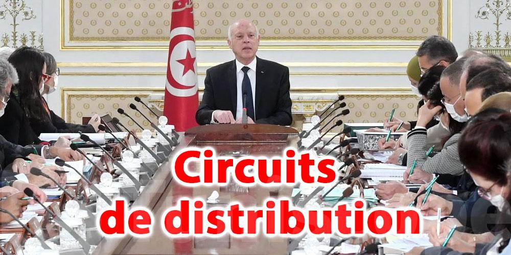 En vidéo...Saied appelle au renforcement du contrôle des circuits de distribution