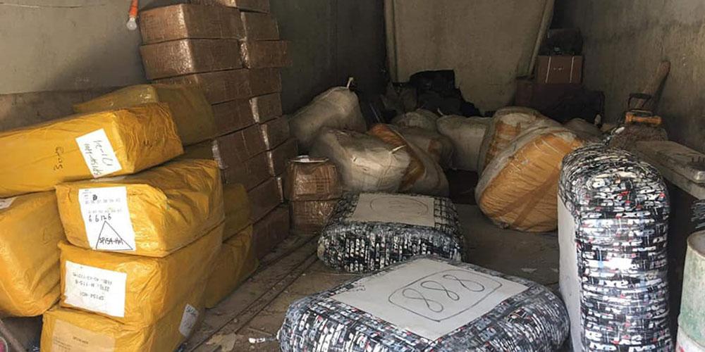En photos : 300 mille dinars de marchandises saisies par la douane