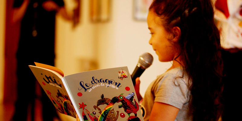 En photos : Signature d'un Livre pour Enfants par les Enfants