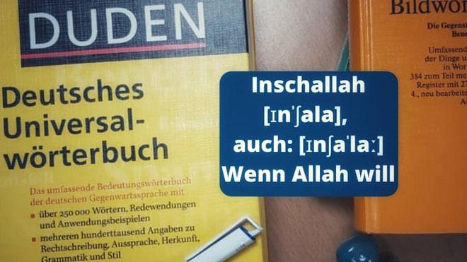''Inchallah'' fait son entrée dans le dictionnaire de la langue allemande