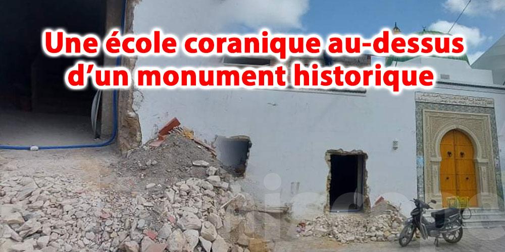 Une école coranique au-dessus d'un monument historique…