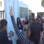 Manifestation devant le Ministère de l'enseignement supérieur pour réclamer le limogeage de la directrice de l'ENSI