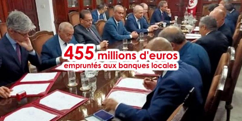 Le ministère des Finances emprunte 455 millions d'euros des banques locales