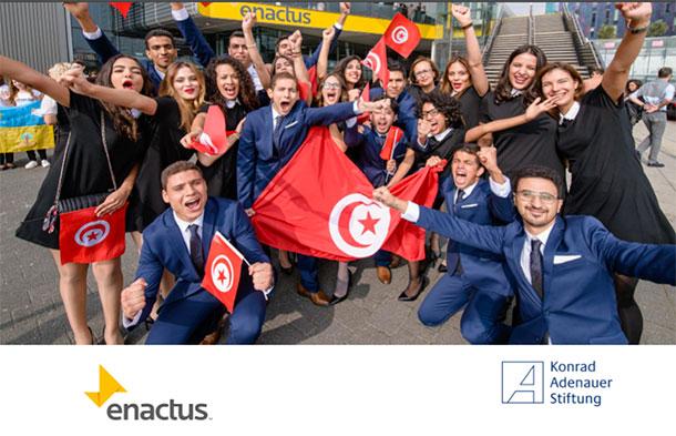 Enactus Tunisie et la Konrad-Adenauer-Stiftung organisent une table ronde sous le thème ''L'avenir des relations Tunisie-UE vu par les jeunes''