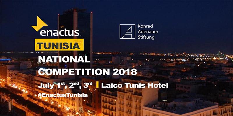 La neuvième édition de la compétition nationale Enactus Tunisie sous le thème :L'entrepreneuriat vecteur de développement'