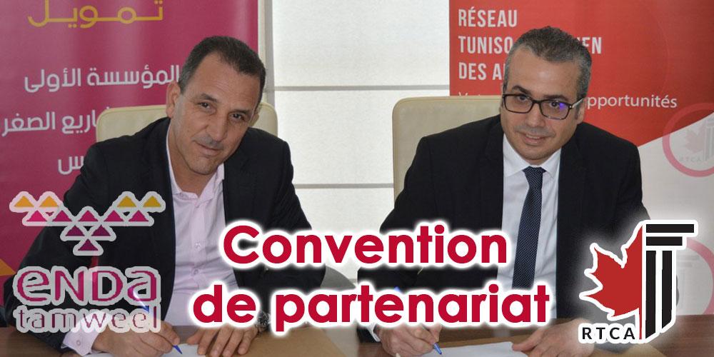 Signature d'une convention de partenariat entre Enda Tamweel et le Réseau Tuniso-Canadien des Affaires