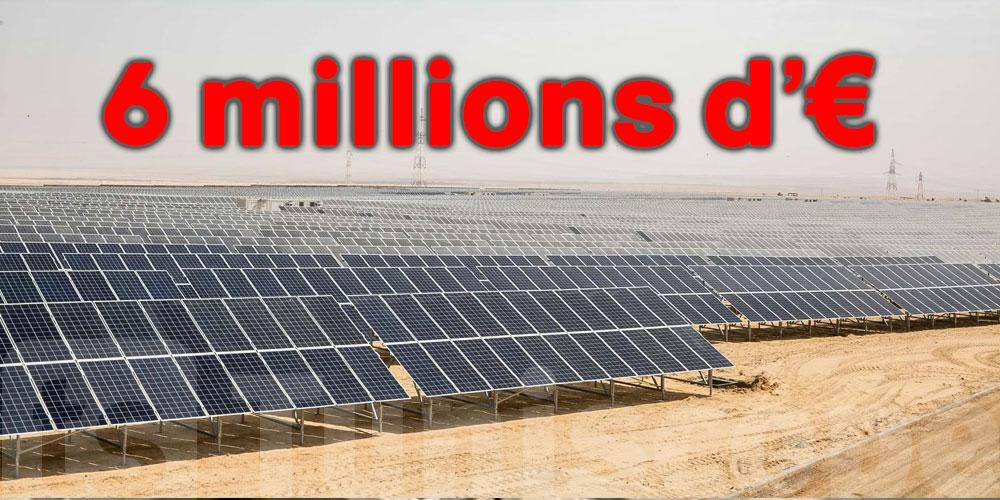 6 millions d'euros pour développer l'énergie solaire en Tunisie