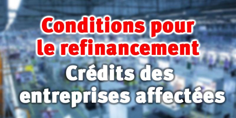 Conditions pour le refinancement des crédits des entreprises affectées par le Coronavirus
