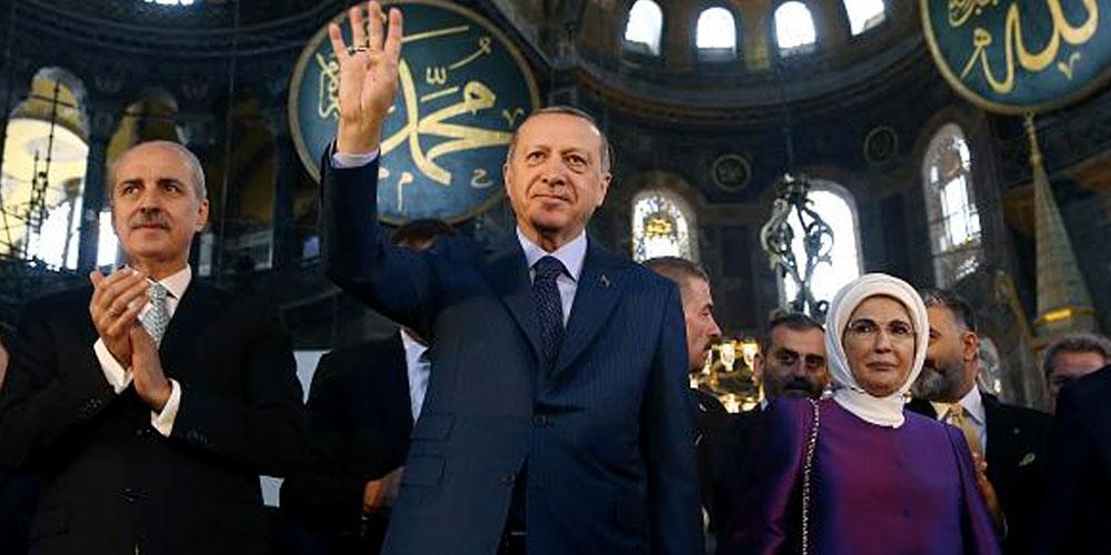 Première prière d'Erdogan à Sainte-Sophie devenue mosquée