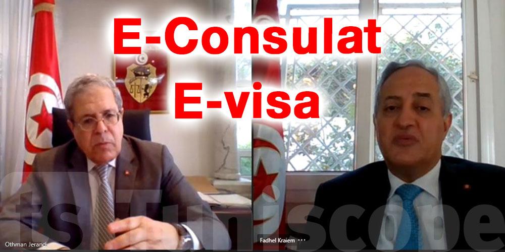 مستجدات مشروع الخدمات القنصلية على الخط وخدمات التأشيرة الالكترونية