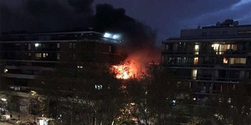 Paris : explosion et violent incendie dans un immeuble d'habitation