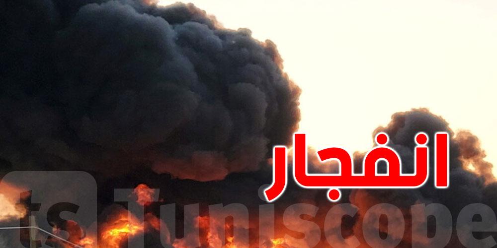 بالفيديو..انفجار ضخم اثر اصطدام شاحنة بقطار مُحمّل بالفحم والبنزين