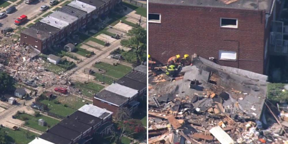 انفجار كبير يهز مدينة أمريكية ويدمر عددا من المنازل