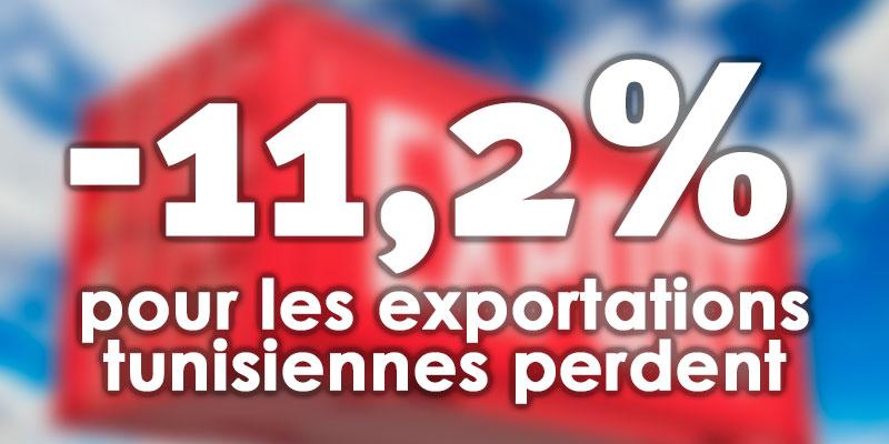Les exportations tunisiennes perdent 11,2% de leur valeur