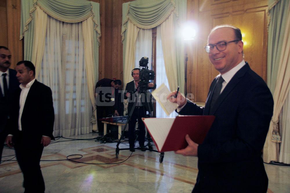 كواليس الندوة الصحفية الأولى لرئيس الحكومة المكلف، إلياس الفخفاخ