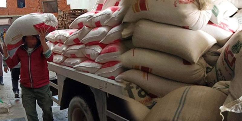 Saisie de 325 tonnes de semoule et de farine