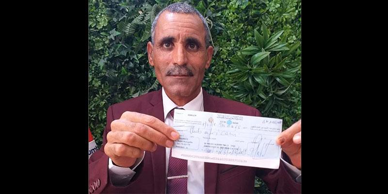 Fayçal Tebini fait un don de mille dinars au club Africain