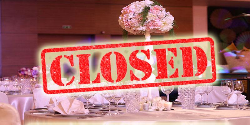 قاعات الأفراح لن تفتح أبوابها و الإحتفالات ضمن مجموعات ممنوعة إلى أجل غير مسمى