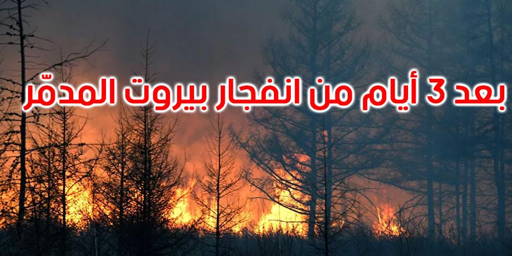 لبنان: حريق هائل يلتهم المنازل والأشجار