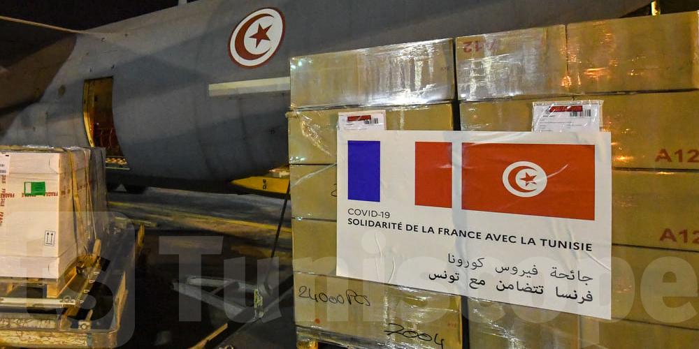 بالفيديو : وصول طائرة عسكرية  محملة بـــ 300 ألف جرعة من التلاقيح من فرنسا