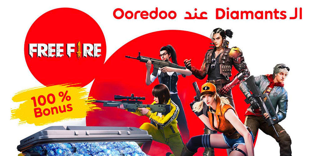 Les Diamants Free Fire chez Ooredoo