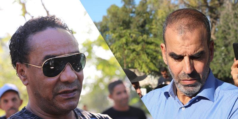 بالصور، فوزي بن ڨمرة و سمير الوصيف في جازة فقيد الأغنية الشعبية لطفي جرمانة