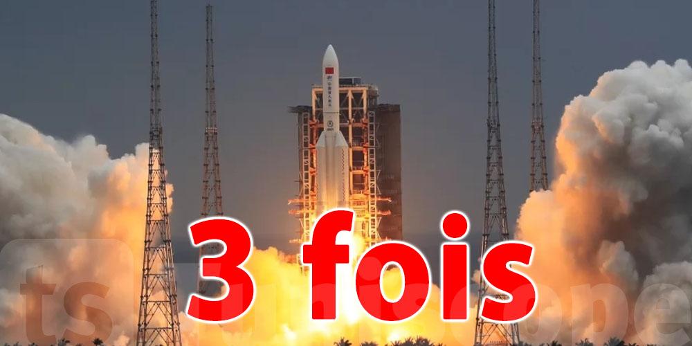 L'incontrôlable fusée chinoise traverse le ciel de la Tunisie pour la 3ème fois