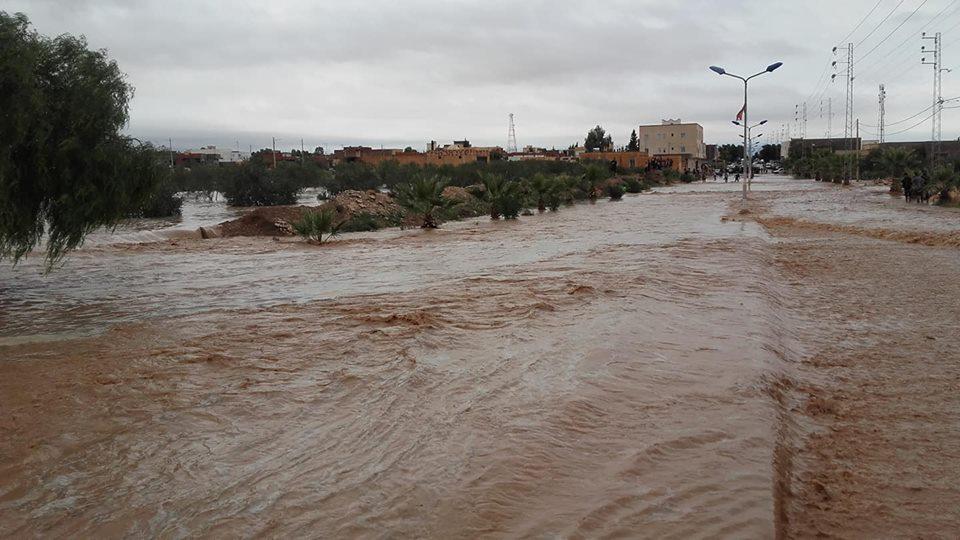 بالصور: أمطار طوفانية بالقصرين
