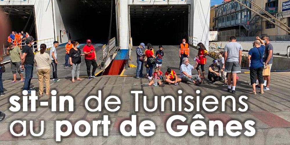 Sit In de Tunisiens sans tests PCR au port de Gênes