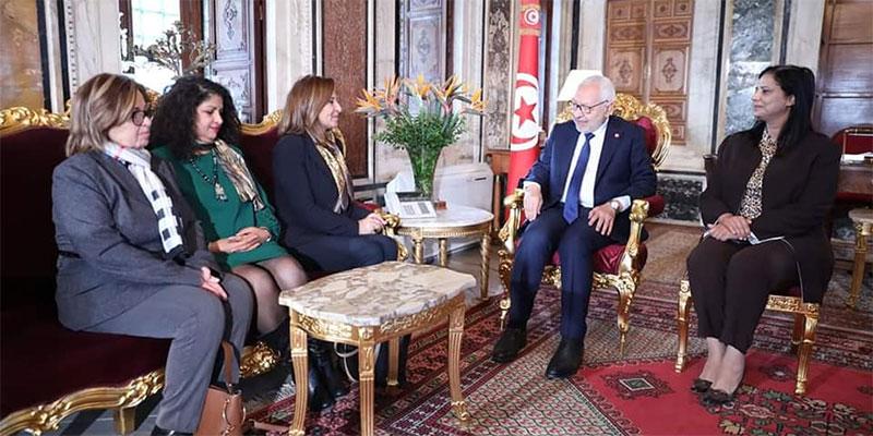 راشد الغنوشي يستقبل رئيسة الاتحاد الوطني للمرأة التونسية