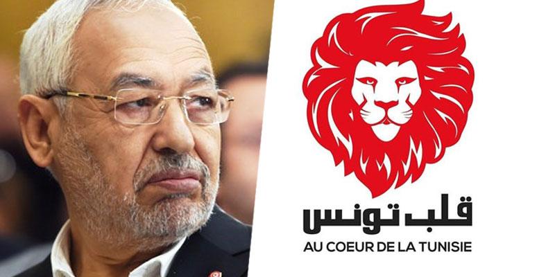 Ghannouchi se dit contre l'exclusion de Qalb Tounes