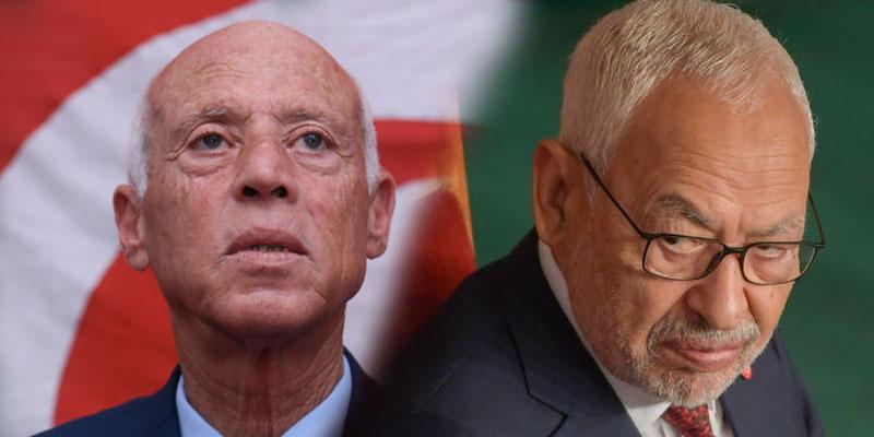 Ghanouchi déclare la guerre à Kaïs Saïed, selon Marzouk