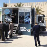 Le Gillette Shave Tour crée l'événement à Hammam Sousse et Géant