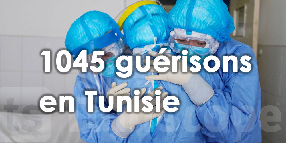 1045 cas de guérison en Tunisie