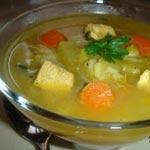 Soupe au poulet et aux épinards