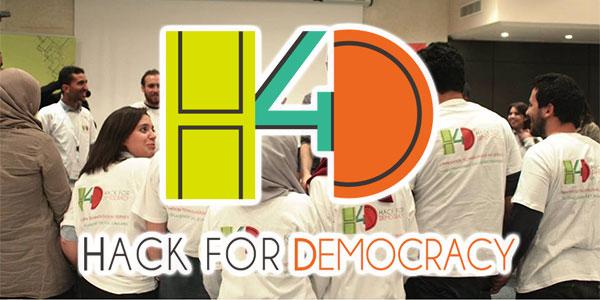 6 Hack for Democracy camps pour des jeunes de 18 à 30 ans.