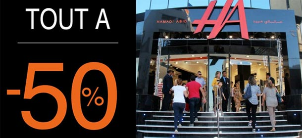 Les magasins HA proposent 50% de réduction à partir d'aujourd'hui