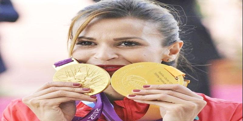 حبيبة الغريبي تتوج بالذهبية في بطولة العالم لألعاب القوى