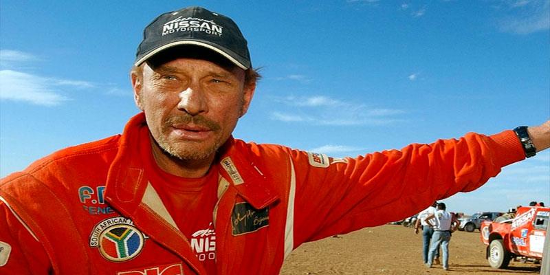 En vidéo : Johnny Hallyday, était la vedette du Rallye de Tunisie 2001
