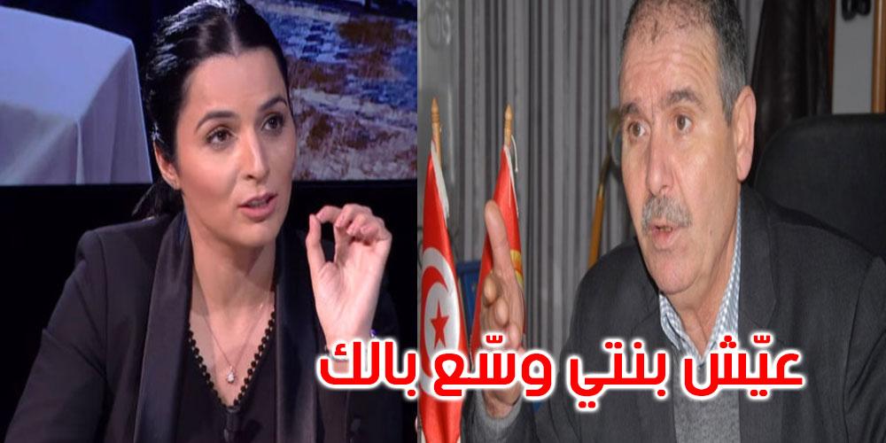 بالفيديو: نور الدين الطبوبي: يا ألفة الحامدي عيّش بنتي وسّع بالك راك ظاهر فيك كنت عايشة في بيئة أخرى