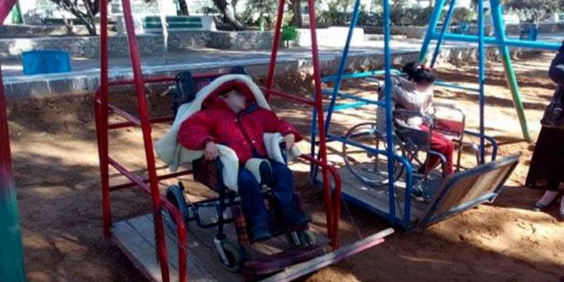 Des balançoires installées au parc de Sfax pour les enfants à mobilité réduite <
