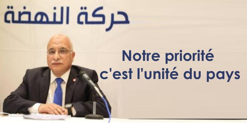 Harouni : l'unité nationale est la seule finalité d'Ennahdha