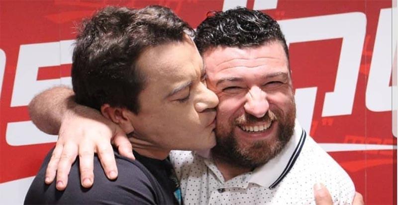 بالصورة: هادي زعيّم يتغزل بسامي الفهري
