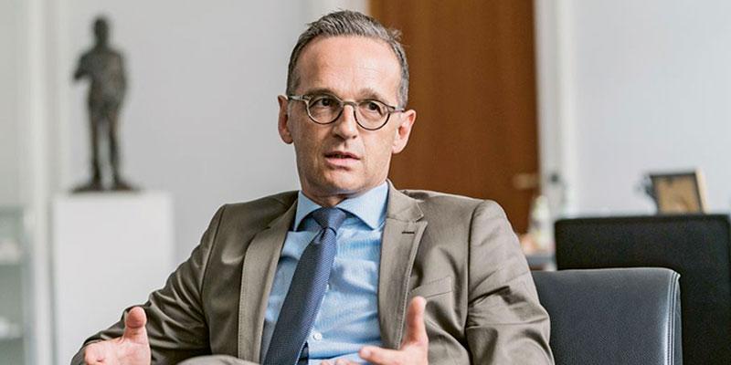 Maas part présenter les résultats de la conférence sur la Libye en Algérie