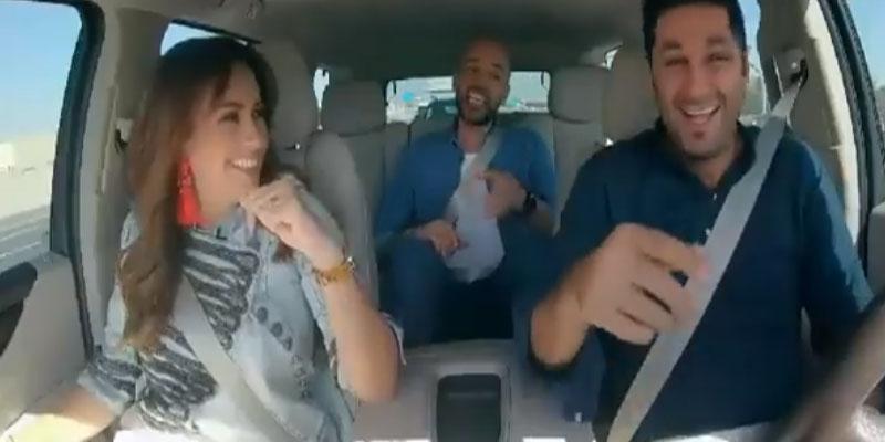 بالفيديو: هند صبري تعلم مرافقيها الفرق بين الزغاريد التونسية والمصرية