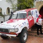 Hend Chaouch au départ de son 16ème Rallye de Tunisie
