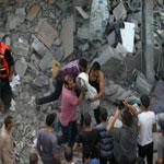 محمود عباس يعلن الحداد ثلاثة أيام ترحما على شهداء مجزرة حى الشجاعية