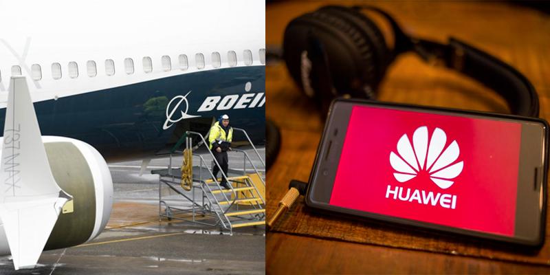 Les états-unis interdisent Huwawei, la Chine veut pénaliser Boeing